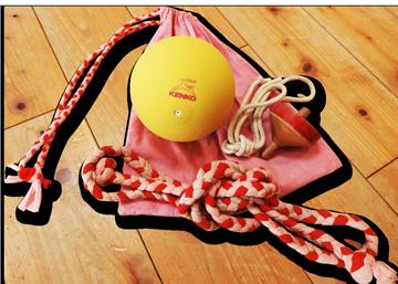 白糸イメージ2:ボール・なわ・こまなど